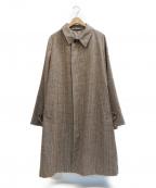 caruso(カルーゾ)の古着「ウールステンカラーコート」|ブラウン×ベージュ