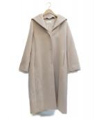 M-premier ms select(エムプルミエ エムズセレクト)の古着「フーデッドウールコート」|ベージュ