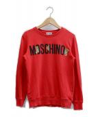 MOSCHINO TEEN(モスキーノ ティーン)の古着「ロゴトリプルベアプリントクルーネックカットソー」 レッド
