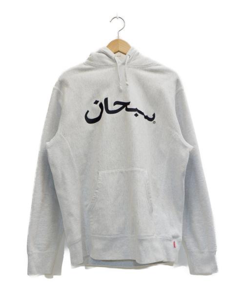 SUPREME(シュプリーム)Supreme (シュプリーム) Arabic Logo Hooded Sweatshirt グレー サイズ:MEDIUMの古着・服飾アイテム