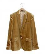 D&G(ドルチェ&ガッバーナ)の古着「ベロアテーラードジャケット」|ゴールド