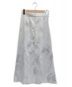 JILL STUART(ジルスチュアート)の古着「ベラマーブルスカート」|スカイブルー
