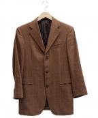 Belvest(ベルヴェスト)の古着「リネン混ウール3Bジャケット」|ブラウン