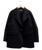 +J(プラス ジェイ)の古着「カシミヤブレンドオーバーサイズジャケット」|ブラック