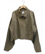 Ameri VINTAGE()の古着「ミリタリーボリュームショートジャケット」|オリーブ
