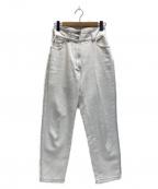 Ameri VINTAGE(アメリヴィンテージ)の古着「21SS HIGH WAIST TAPERED DENIM」 ホワイト