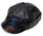 R.J.B(アールジェイビー)の古着「ホースハイドキャスケット」|ブラック