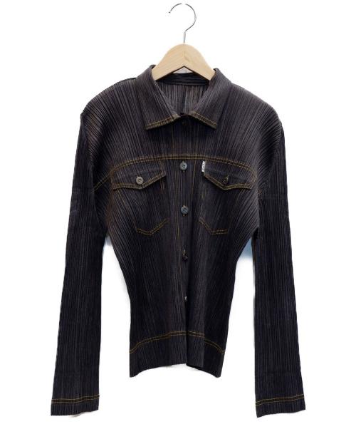 PLEATS PLEASE(プリーツプリーズ)PLEATS PLEASE (プリーツプリーズ) プリーツジャケット ブラック サイズ:表記サイズ:3の古着・服飾アイテム
