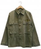 ()の古着「[古着]M-43ミリタリーHBTジャケット」 オリーブ
