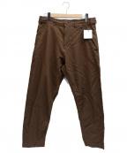 COMME des GARCONS HOMME DEUX()の古着「ポリ縮絨パンツ」 オリーブ
