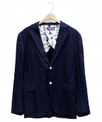 BLUE BLUE()の古着「2Bリネンジャケット」|ネイビー