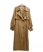UNGRID(アングリッド)の古着「ルーズボリュームスリーブトレンチコート」 ブラウン