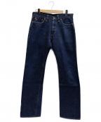 TOYS MCCOY(トイズマッコイ)の古着「ワンウォッシュストレートジーンズ」|インディゴ
