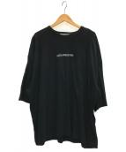 ()の古着「ビッグシルエットプリントTシャツ」 ブラック