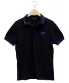 PRADA(プラダ)の古着「ポロシャツ」|ブラック×ブルー