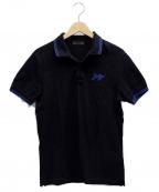PRADA()の古着「ポロシャツ」|ブラック×ブルー