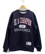 SUPREME×Champion()の古着「Champion Stay In School Crewne」|ネイビー