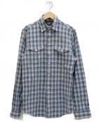 RRL()の古着「チェックシャツ」|アイボリー×ブルー