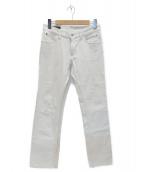GUCCI(グッチ)の古着「ホワイトデニムパンツ」|ホワイト
