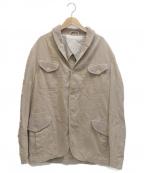 HEVO(イーヴォ)の古着「リネン混ジャケット」|ベージュ