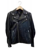 FRAMeWORK(フレームワーク)の古着「ラムダブルライダースジャケット」 ブラック