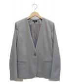 ()の古着「ノーカラージャケット」 グレー