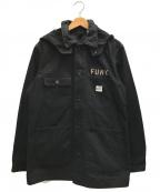 WACKO MARIA()の古着「デニムフードカバオール」|ブラック
