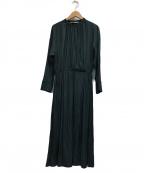 UNTITLED(アンタイトル)の古着「カシュクール風ドレスワンピース」|グリーン