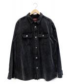 ()の古着「ウォッシュドコーデュロイシャツ」 グレー