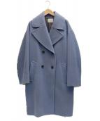 ()の古着「ダブルモッサコート」|ブルー