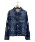 DOLCE & GABBANA(ドルチェ&ガッバーナ)の古着「再構築デニムジャケット」|ブルー