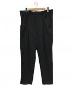 LIMI feu(リミフゥ)の古着「ウールワイドパンツ」 ブラック