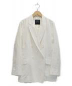 ()の古着「ダブルリネンジャケット」 ホワイト