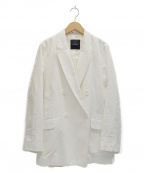 N.O.R.C(ノーク)の古着「ダブルリネンジャケット」|ホワイト