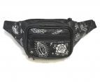 ()の古着「プリントウエストバッグ」|ブラック