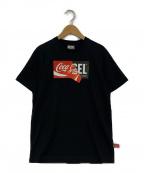 DIESEL(ディーゼル)の古着「DIESEL×Coca-ColaコラボTシャツ」 ブラック