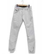 ()の古着「TEPPHARブリーチ加工デニムパンツ」|ライトグレー