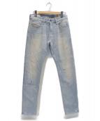 ()の古着「TEPPHARダメージ加工デニムパンツ」|ブルー