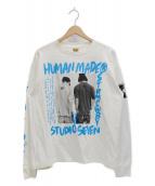 HUMAN made x STUDIO SEVEN(ヒューマンメイド x スタジオセブン)の古着「プリントTシャツ」|ホワイト