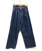 RILY(リリー)の古着「Wide Denim Pants」|インディゴ