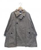 ts(s)(ティーエスエス)の古着「切替ステンカラーコート」 グレー
