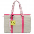 ()の古着「キャンバストートバッグ」 ホワイト×ピンク