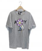 OCTOBERS VERY OWN(オクトーバーズ ベリー オウン)の古着「フラワープリントTシャツ」 グレー
