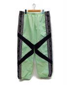 ()の古着「Cross Panel Track Pant」 ライトグリーン
