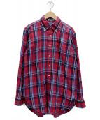 ()の古着「ネルシャツ」 レッド×ブルー