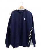 KAPPA(カッパ)の古着「コラボプルオーバースウェット」|ネイビー