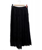 JILL STUART(ジルスチュアート)の古着「ヘザーエンブロイダリーパンツ」|ブラック
