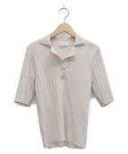 JILL STUART(ジルスチュアート)の古着「マギーポロニット」|ベージュ