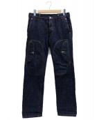 ()の古着「ギミックデザインデニムパンツ」|ネイビー