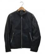 LIDnM()の古着「シングルレザーライダースジャケット」|ブラック
